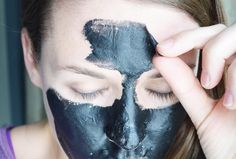 This DIY charcoal peel-off mask will pull blackheads, dirt, oil and impurities from your pores leaving your skin feeling clean, fresh and smooth.