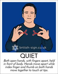 Sign of the Day - British Sign Language - Learn BSL Online English Sign Language, Sign Language Phrases, Sign Language Alphabet, Sign Language Interpreter, Learn Sign Language, British Sign Language, Sign Language Dictionary, Learn Bsl, Learn To Sign