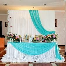 Just the table draping Wedding Stage Decorations, Anniversary Decorations, Backdrop Decorations, Backdrops, Sea Wedding Theme, Wedding Table Layouts, Bridal Table, Event Decor, Google