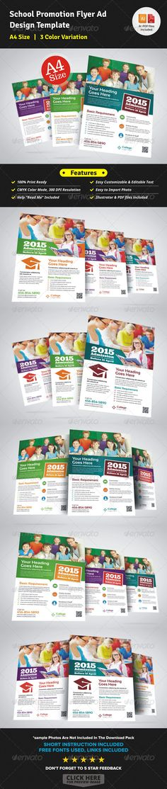 School Promotion Flyer Ad