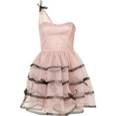 Tape and Bow Skirt Prom Dress by Dress Up Topshop**
