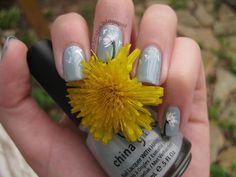 Dandelion nail art tutorial