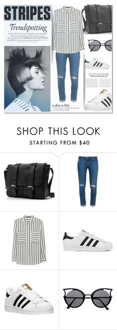 """""""One Direction: Striped Shirts"""" by milica1940 ❤ liked on Polyvore featuring Paige Denim, MANGO, Melissa and adidas"""