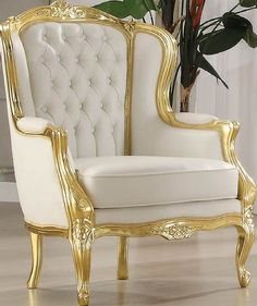Neo Classic Elegance Gold Accent Chair 59144 ACM-59144