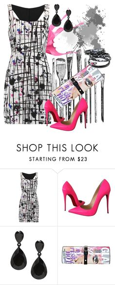 """""""No Mess Here"""" by shoppe23online on Polyvore featuring Milly, Christian Louboutin and paintsplatter"""