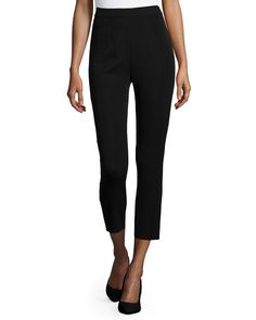 Slim Ankle Pants, Black, Women's, Size: 1X/20W - Misook
