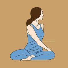 Super Yoga Poses For Posture Articles Ideas Hormon Yoga, Yoga Fitness, Health Fitness, Facial Yoga, Yoga Posen, Yoga Positions, Kundalini Yoga, Qigong, Yoga Routine