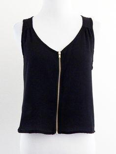 Tautmun - MESTA WOVEN ZIPPER TANK - BLACK, $14.99 (http://www.tautmun.com/mesta-woven-zipper-tank-black/)