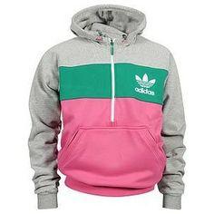 ,Adidas pink and green sweatshirt