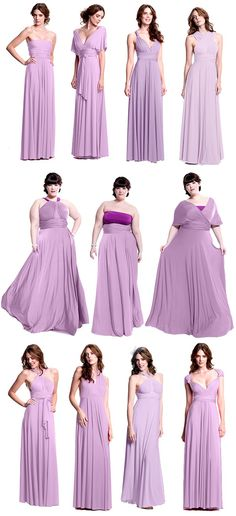 The bride can pick a color and let her bridesmaids pick their style. The perfect bridesmaid dress that you can actually wear again!