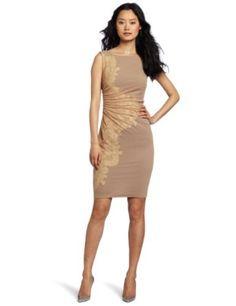 Catherine Malandrino Women's Cap Sleeve Dress With Side Embriodery