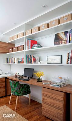 Your home office should make getting function the end at house easier than ever. agree to a tour through our favorite home office makeovers to learn how you can decor your best beautiful home. Office Shelf, Home Office Storage, Home Office Organization, Home Office Space, Office Workspace, Home Office Decor, Home Decor, Office Bookshelves, Office Spaces