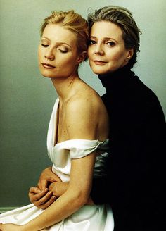 Gwyneth Paltrow and her mother, Blythe Danner by Annie Leibovitz #Leibovitz