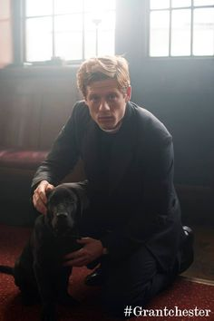 One vicar and his dog (Canon Sidney Chambers and Dickens from Grantchester) A gorgeous pair