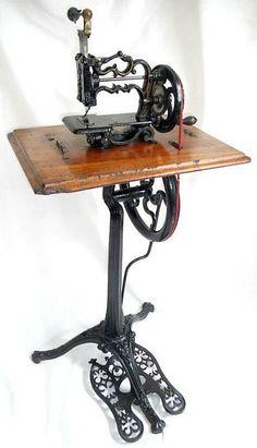 VICTORIAN WEIR PEDESTAL TREADLE SEWING MACHINE.