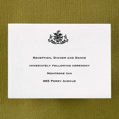 Damask - Reception Card weddingneeds.carlsoncraft.com