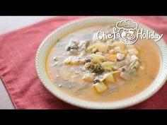 具だくさんのトスカーナ風ミネストローネスープ   Chef's Holiday - YouTube