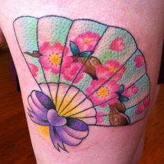 Pretty Fan Tattoo-I just like the colors to fill in my fan tattoo