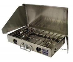 Partner Steel 2- Burner HD Propane Stove w/ Windscreen