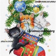 modern cross stitch wall decor Christmas holiday Christmas cross stitch kit Christmas cross stitch decor beginner hand embroidery kit