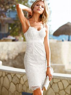 Lace Corset Dress for Rehearsal Dinner or Bridal Shower