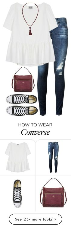 """""""fun"""" by tabooty on Polyvore featuring Kate Spade, AG Adriano Goldschmied, Rachel Comey, Dina Mackney and Converse"""