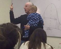 When A Student's Baby Started Crying In Class, This Professor Did The Most Awesome Thing
