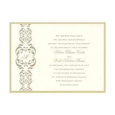 Lacey 2-Layer Wedding Invitations by MyGatsby.com