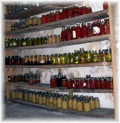 Amish pantry.                                              Oh, to have such a well-stocked pantry!