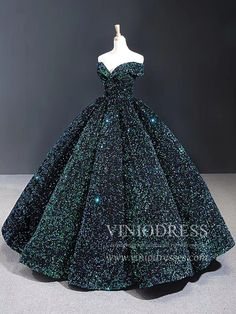 Couture Sparkly Sequin Ball Gown Off the Shoulder Debut Dresses – Viniodress Source by viniodress fashion couture Debut Gowns, Debut Dresses, 15 Dresses, Ball Dresses, Elegant Dresses, Pretty Dresses, Beautiful Dresses, Neon Prom Dresses, Sparkly Dresses