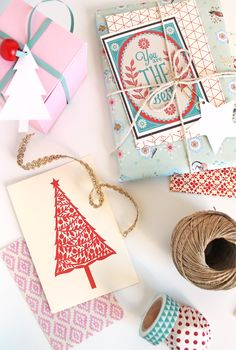 giochi di carta: like the idea of incorporating the card as part of the wrapping