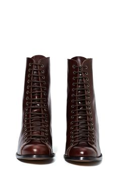 Jeffrey Campbell Ria Leather Boot - Lace-Up | Heels | Jeffrey Campbell | Shoes