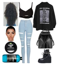 """""""Omaha: June 10"""" by allison-syko ❤ liked on Polyvore featuring Area Di Barbara Bologna, Topshop, Puma and Le Parmentier"""