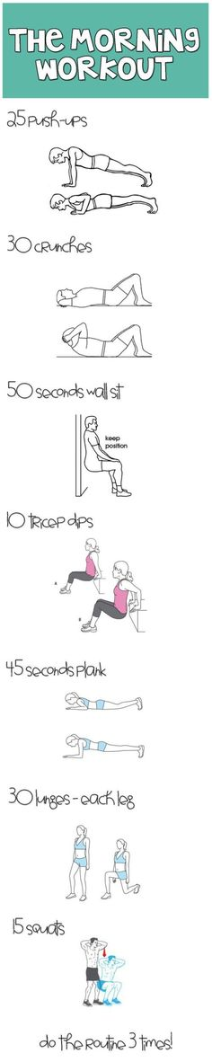 Morning Workout- Also another good beginners workout. Do as many circuits as you can