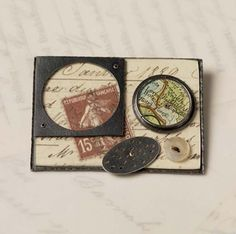 Collage brooch (3) by Clare Hillerby