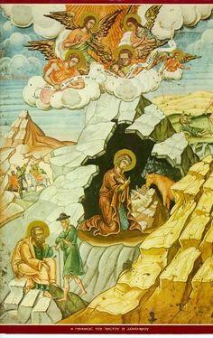 «Ύπεραγία Θεοτόκε, σώσον και διαφύλαξον τούς δούλους σου (τα ονόματα των γονέων, συγγενών και γνωστών), αύξησον την πίστιν αυτών και την μετάνοια και εν την ώρα του θανάτου ανάπαυσον αυτούς μετά των άγιων εις την άένναον δόξαν Σου». Orthodox Icons, Happy Mothers Day, Holiday Parties, Prayers, Party, Painting, Fictional Characters, Remedies, Bible