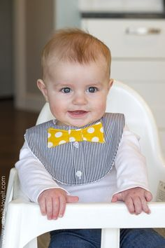 Bow Tie Drool Bibs...for BOYS! (from a Men's shirt). A perfect up-cycle project that will keep your little one's shirt dry and free from drool!