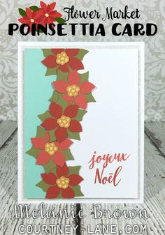 Flower Market Poinsettia card