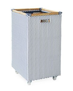 Riviera Rolling Storage - Navy - Home Decor & Furniture - Serena & Lily Woven Bar Stools, Navy Home Decor, Bedsit, Apartment Needs, Rolling Storage, Recycling Center, Bistro Chairs, Home Decor Furniture, Bath Accessories