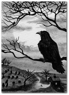 Black Cat Society - Midnight Walk - Картины, печать или ACEOs по BiHrLe bcs52
