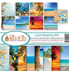 Ella  Viv by Reminisce EAV859 Ella  Viv Just Beachy Scrapbook Collection Kit >>> You can get more details by clicking on the image.Note:It is affiliate link to Amazon. #ScrapBooking