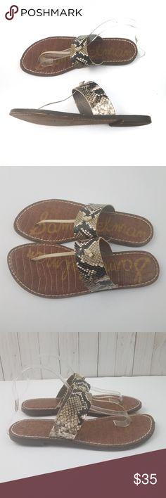 f475a84242f6 SAM EDELMAN Gus Snakeskin Slip on Sandals Size 9 SAM EDELMAN Gus Snake  Print Slip On