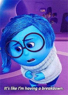 The perfect Sadness Breakdown InsideOut Animated GIF for your conversation. Discover and Share the best GIFs on Tenor. Sadness Inside Out, Inside Out Emotions, Movie Inside Out, Disney Films, Disney And Dreamworks, Animated Movie Posters, Touchstone Pictures, Hollywood Pictures, Cartoons Love