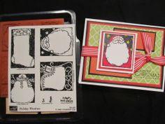 Stampin Up Holiday Woodcuts Santa Sled Stocking Snowman New RARE   eBay