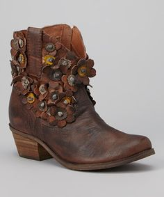 Look at this #zulilyfind! Chestnut Saffron Leather Boot by Sheridan Mia #zulilyfinds.  So cute but can I justify?