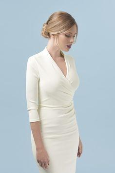85dd3e57 Tegan Wrap Top Pencil Dress The Pretty Dress Company, Pencil Dress,  Workwear, Pretty