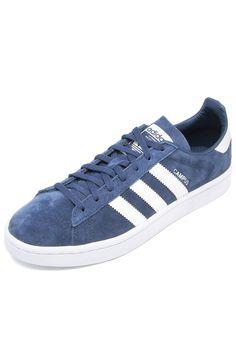 quality design 6eb78 75e2a Tênis Couro adidas Originals Campus W Azul-Marinho Branco