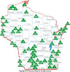 Wisconsin State Parks, Forests, Recreation Areas. Scroll the list below if you cannot use this image map.