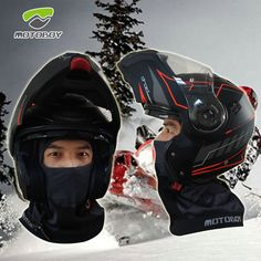 Motorcycle Bike Cycling Face Mask,Ski Thermal Breathability Ergonomic Design Balaclava,Winter Outdoor Hiking Quick-dry moisture-absorbing Windstopper Headwear from MOTO-BOY
