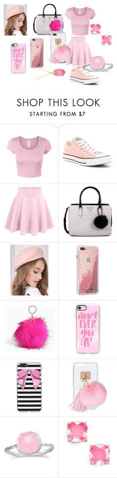 """""""pink head to toe"""" by raven-536 ❤ liked on Polyvore featuring Converse, GUESS, Torrid, Casetify, Harrods, Ashlyn'd, BillyTheTree and Kate Spade"""